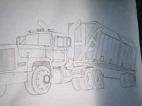 Drawn truck awesome truck Peterbilts trucks cars My Drawings