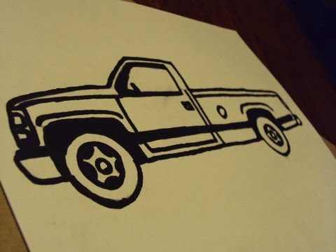 Drawn truck awesome truck Easy truck easy how draw