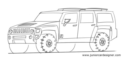 Drawn truck awesome truck How hummer on Draw draw