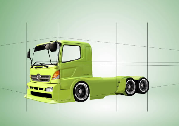 Drawn truck awesome truck A Photoshop and Step Truck