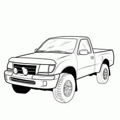 Drawn truck awesome truck Truck a Truck Step to