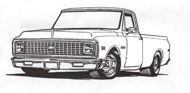 Drawn truck chevy GMC & pencil The Truck