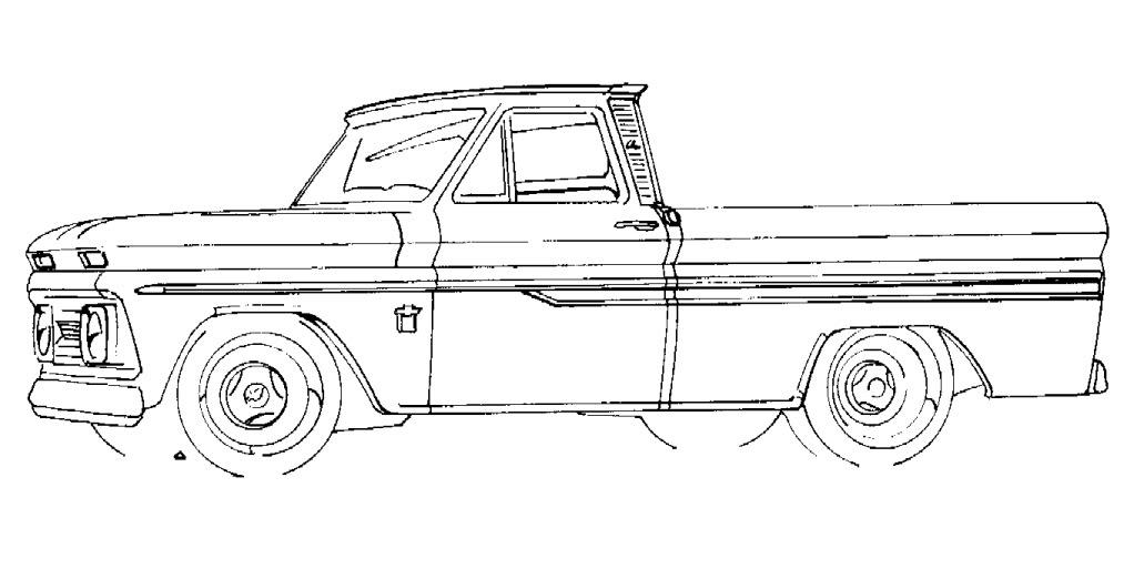 Drawn truck chevy Motorbikes Google Cartoon old Search