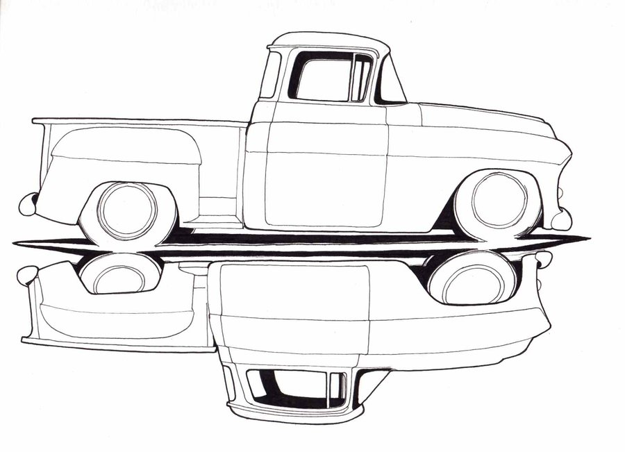 Drawn truck chevy Chevy Drawings trucks and Old