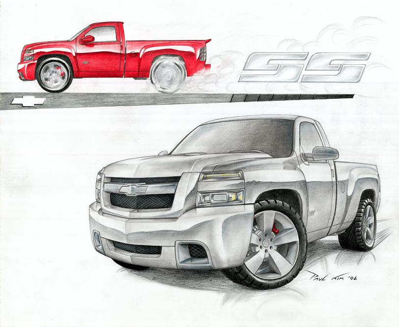 Drawn truck chevy By on SS SeawolfPaul by