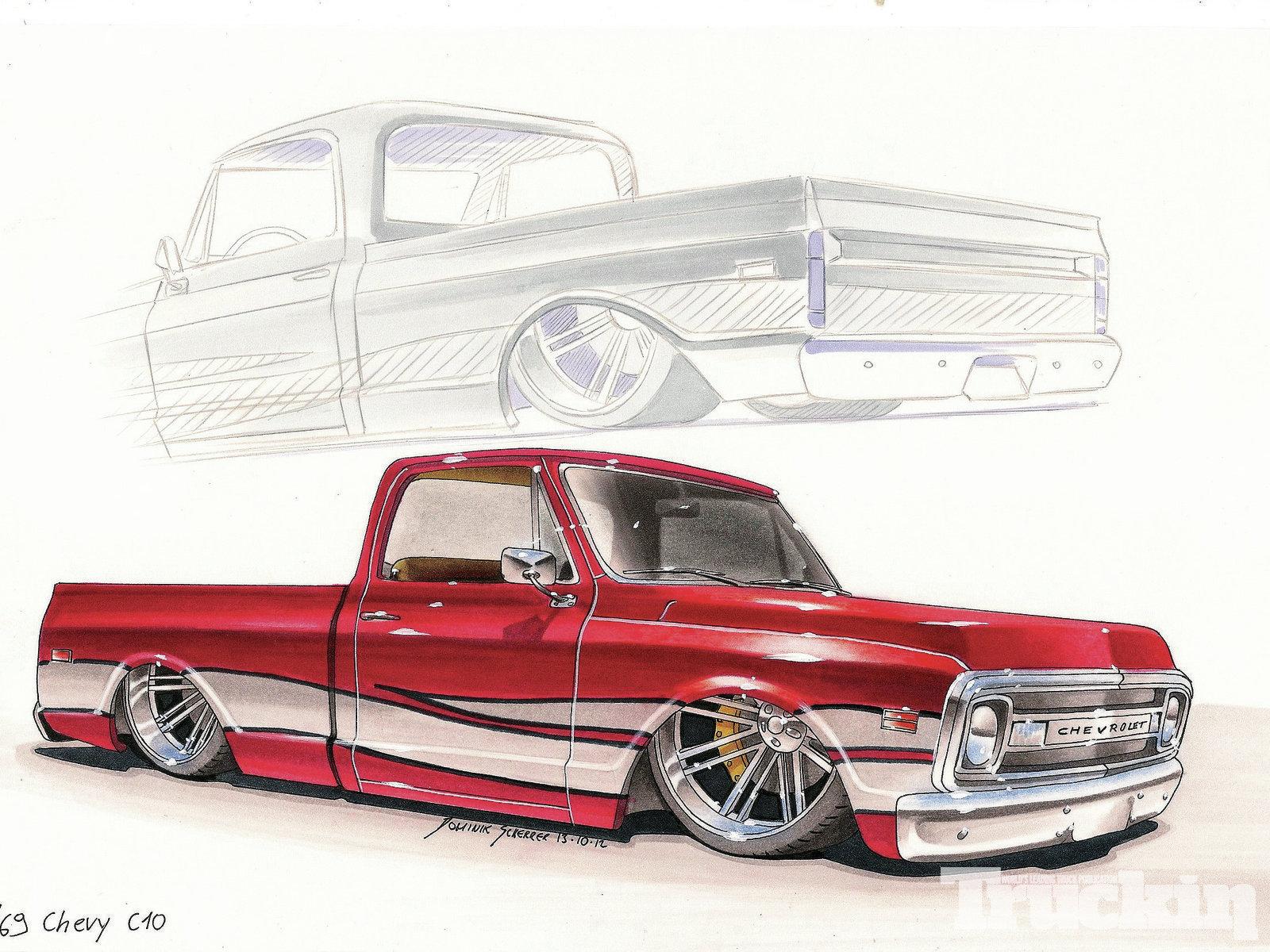 Drawn truck chevy  jpg 1303tr 02+artwork_by_dominik_scherrer_radical_renderings+1969 c10