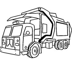 Drawn truck coloring page Pages Free Truck Coloring