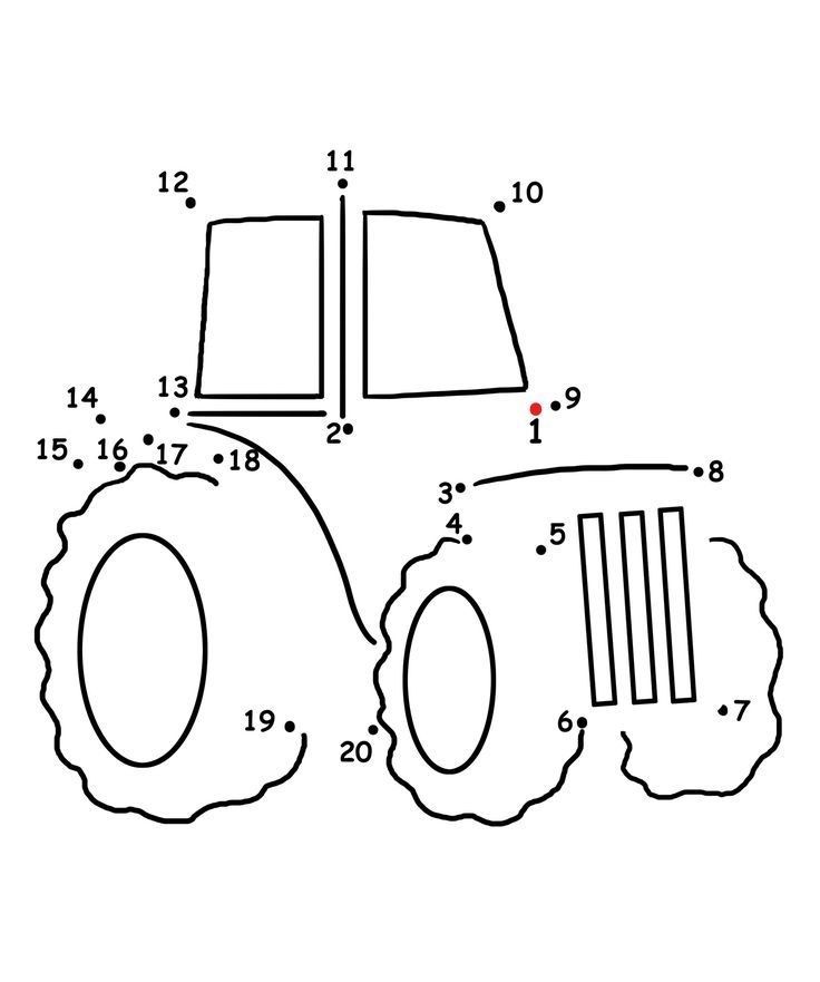 Drawn truck dot These paper to on coloring