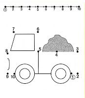 Drawn truck dot Numbers shapes pages website Learning