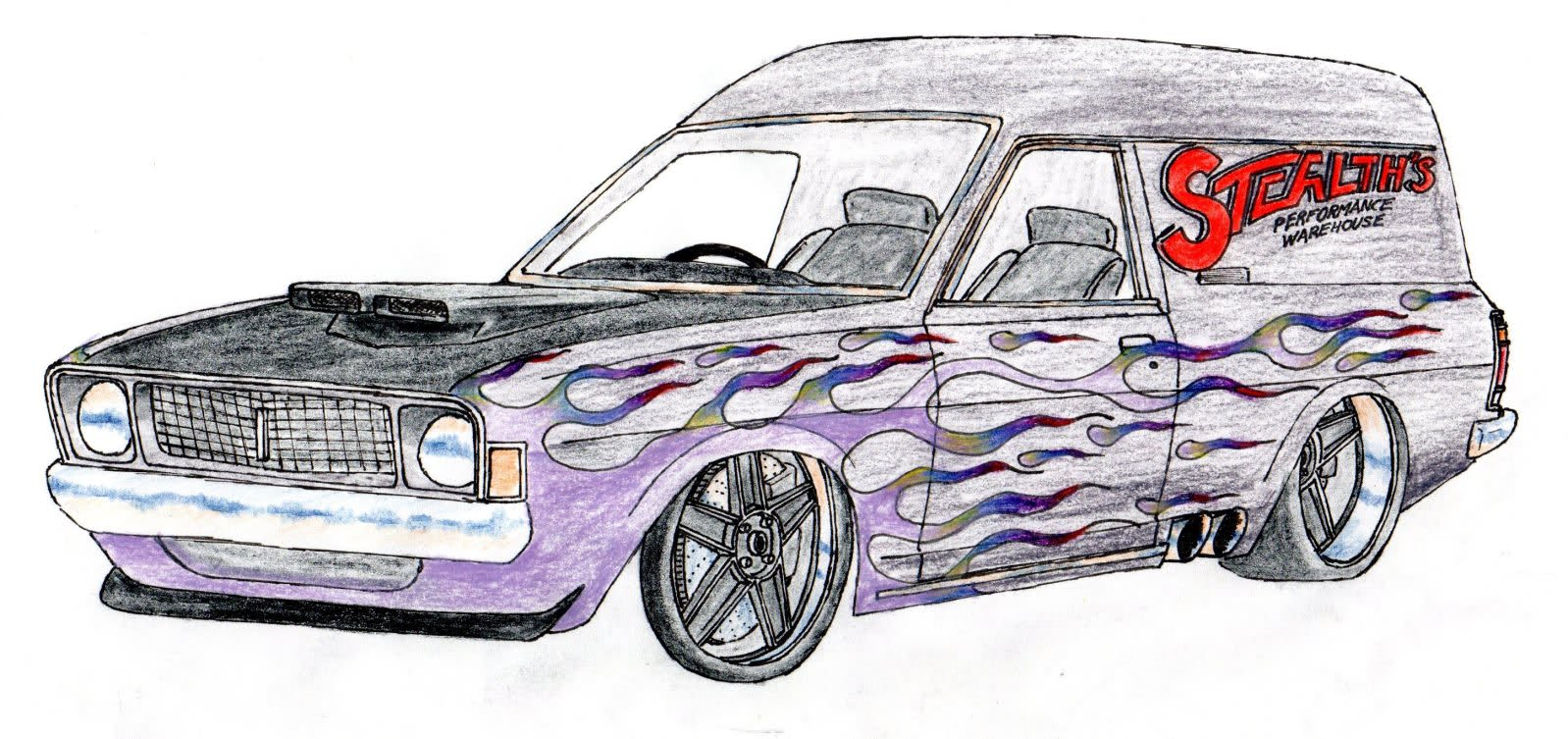 Drawn truck drag truck Truck with to Easy a
