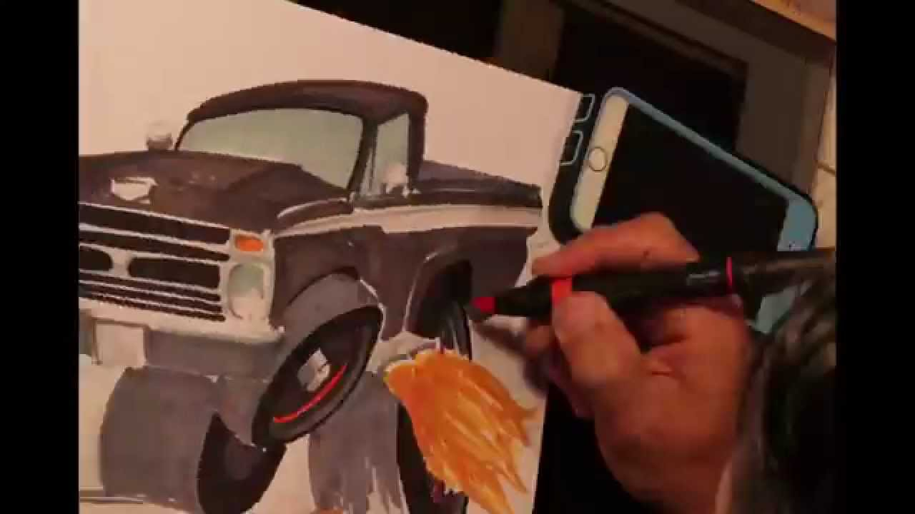Drawn truck drag truck Ford Ranger Drag Drawing client