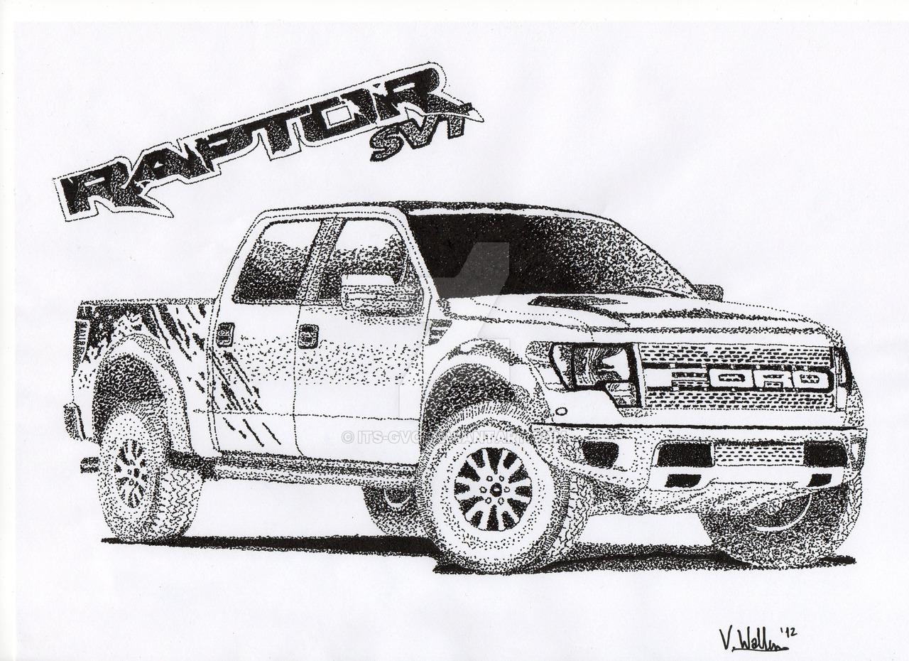 Drawn truck ford raptor Its DeviantArt SVT by Its