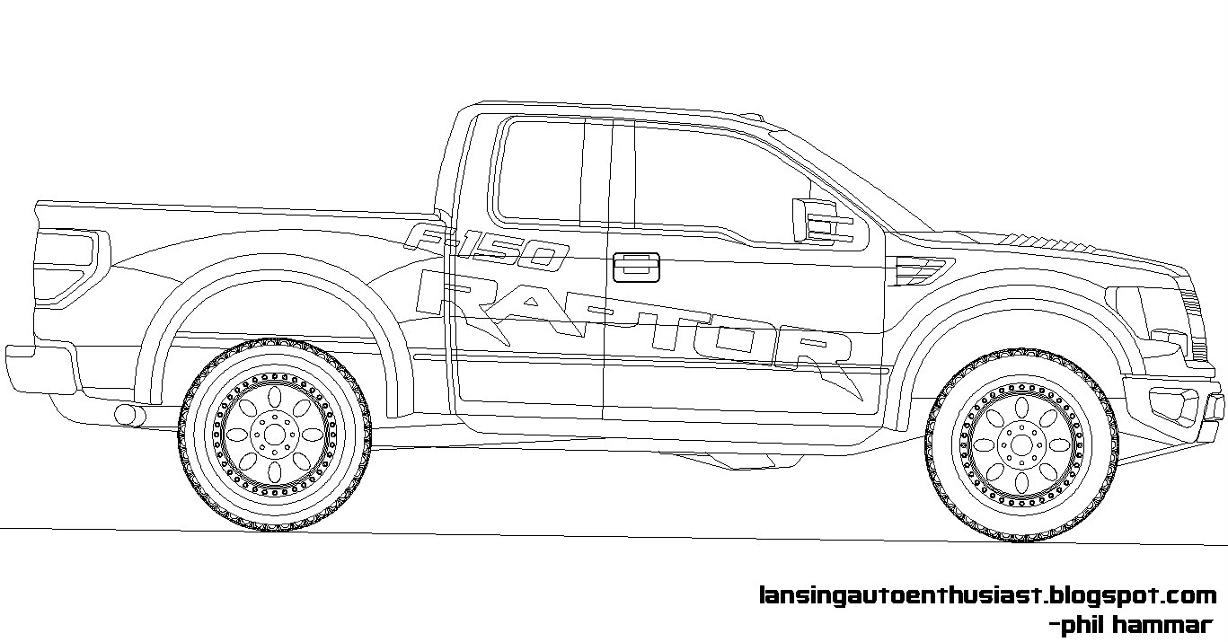 Drawn truck ford raptor FORD Raptor Raptor FORUM Coloring