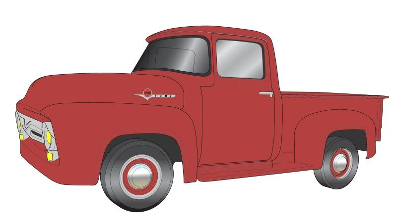 Drawn truck ford truck  truck Pinterest drawing color