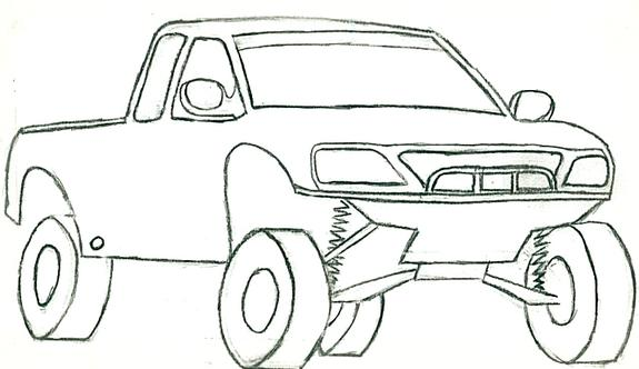 Drawn truck ford truck Side Truck Ford Truck Drawing