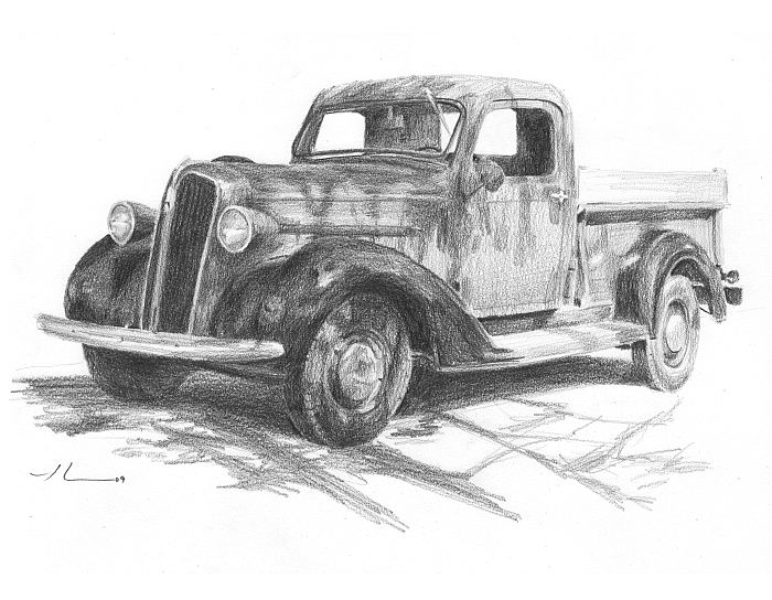 Drawn truck ford truck Divers Mike Pinterest WetCanvas by