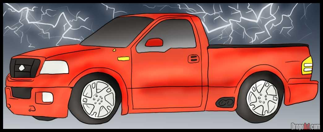 Drawn truck ford truck Apple Lightning Up To by