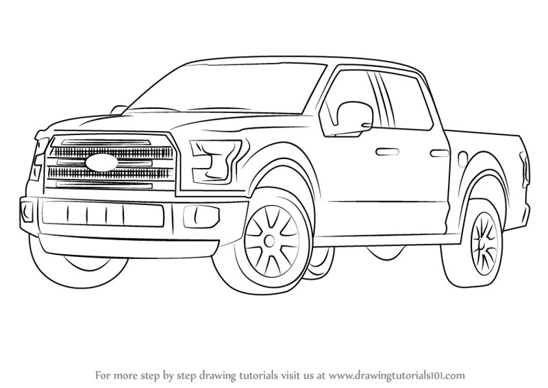 Drawn truck ford truck Truck by : Ford