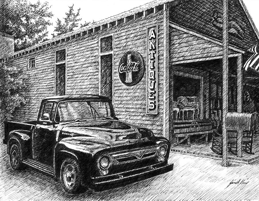 Drawn truck ford truck 100 by King 1956 Truck