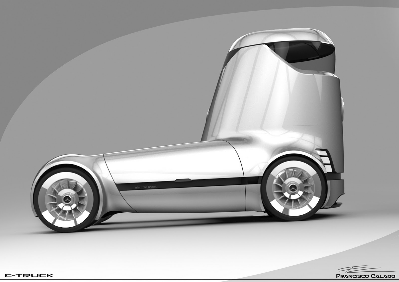 Drawn truck future GALLERY Study Mercedes Truck From