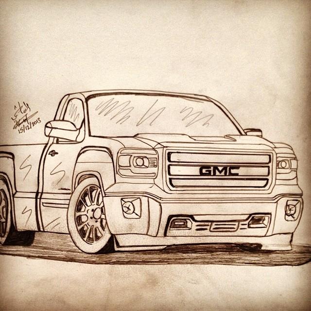 Drawn truck gmc sierra س #by Ù Ø #drawing