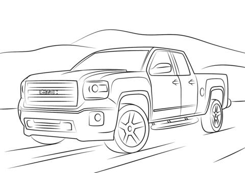 Drawn truck gmc sierra Page version coloring Sierra printable