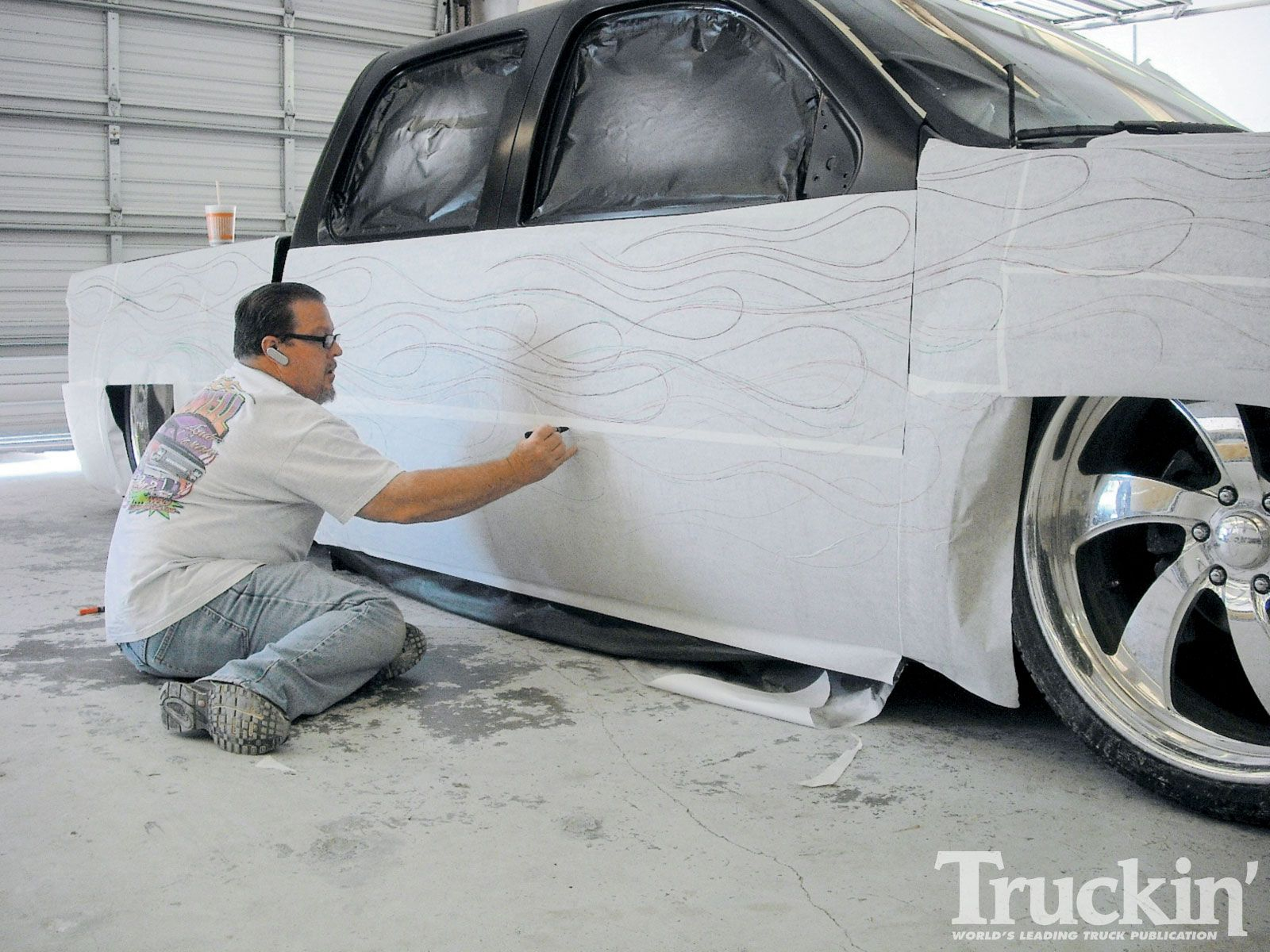 Drawn truck gmc sierra Photo drawing Blazing To Paint