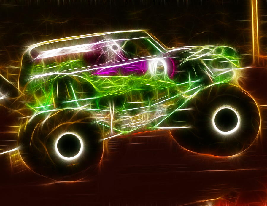 Drawn truck grave digger monster truck Grave Monster  Drawing Truck