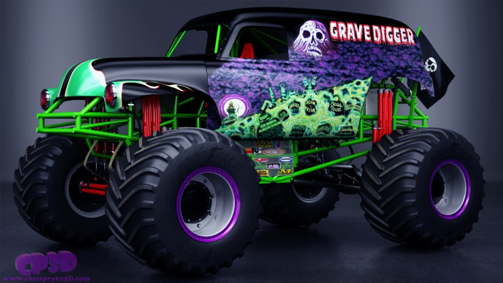 Drawn truck grave digger monster truck Monster Trucks Grave Digger Wallpaper