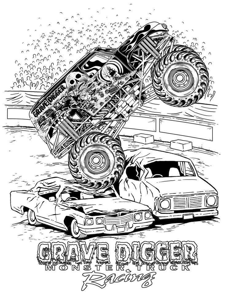 Drawn truck grave digger monster truck Digger images to best montstertrucks