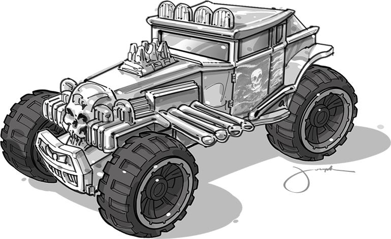 Drawn truck hot wheel car 2013 CRUSHER BAJA 15 September