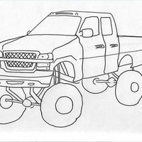 Drawn truck jacked up A Up Drawings Up Jacked