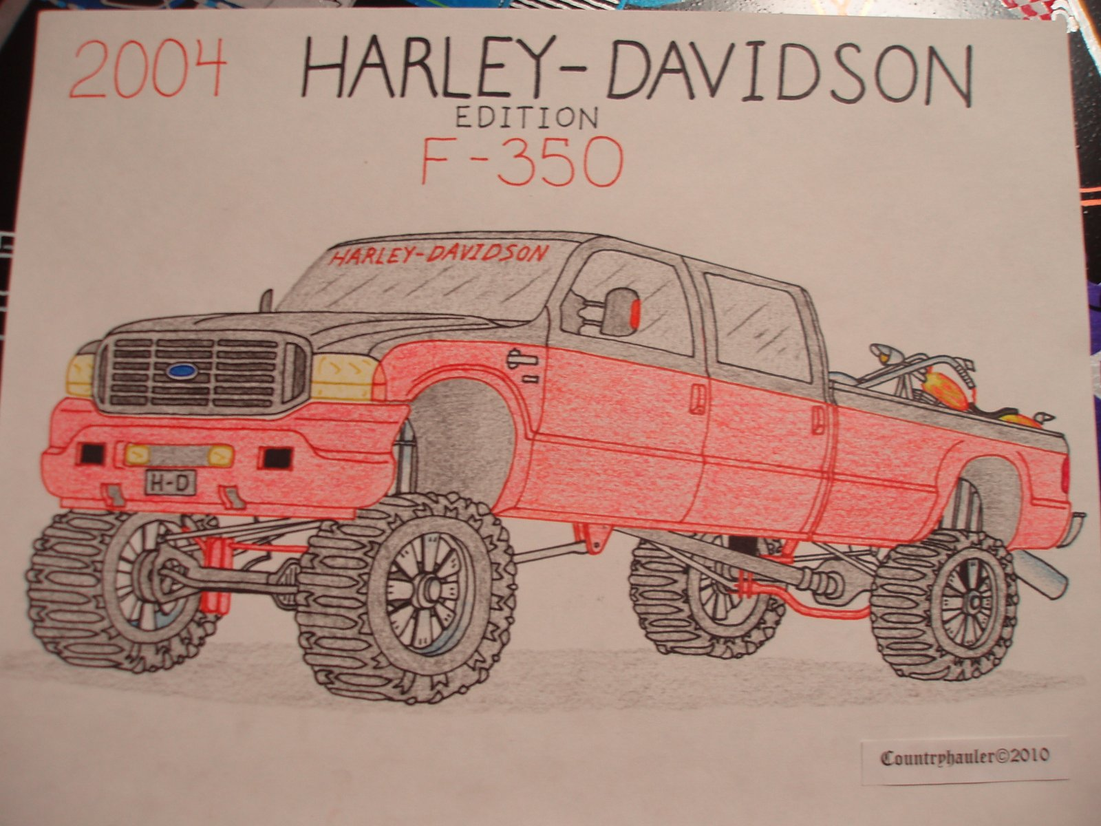 Drawn truck jacked up Include F750 Jacked F450 and