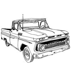 Drawn truck old truck An and truck of old