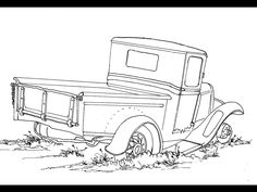 Drawn truck old truck Pickup Car a old This