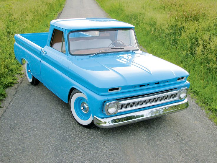 Drawn truck old truck 1966 266 c10 Chevy on