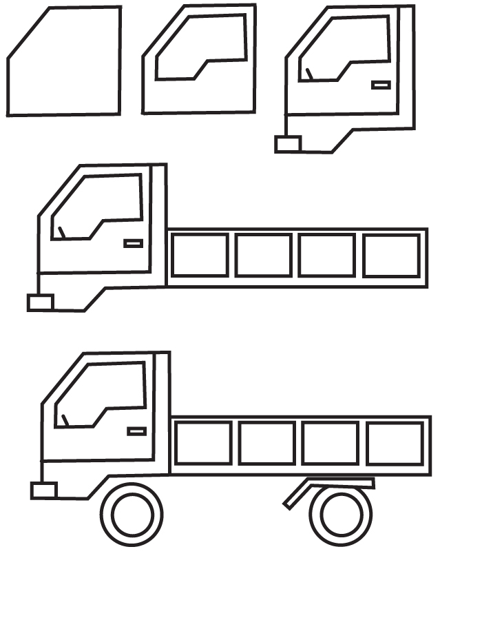 Drawn truck simple Truck Free Drawing Big Pictures