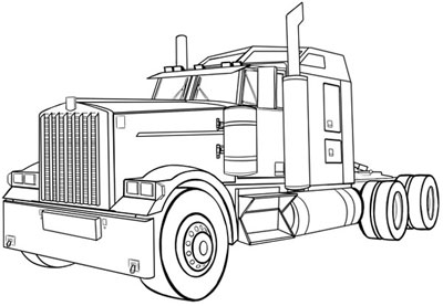 Drawn truck simple How  to Trucks Vehicles: