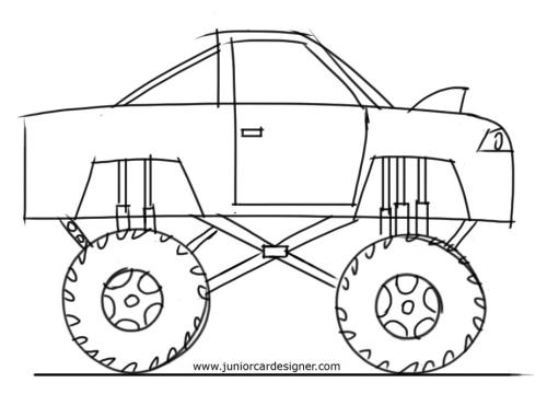 Drawn truck simple How Monster To Learn to