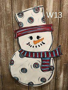 Drawn truck snowman Truck Door Hanger Door Decor