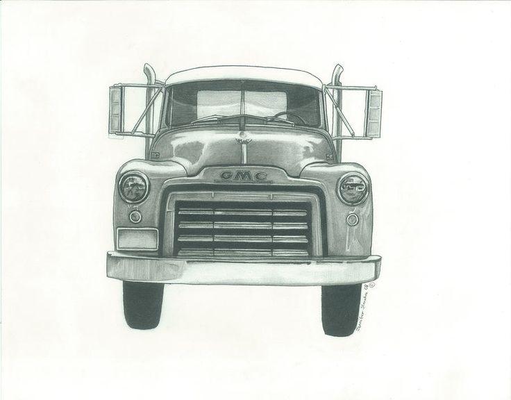 Drawn truck snowman Pinterest More Pencil Semi of