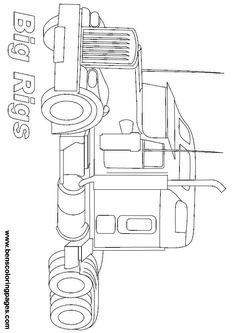 Drawn truck snowman Vehicles Semi Trucks Coloring