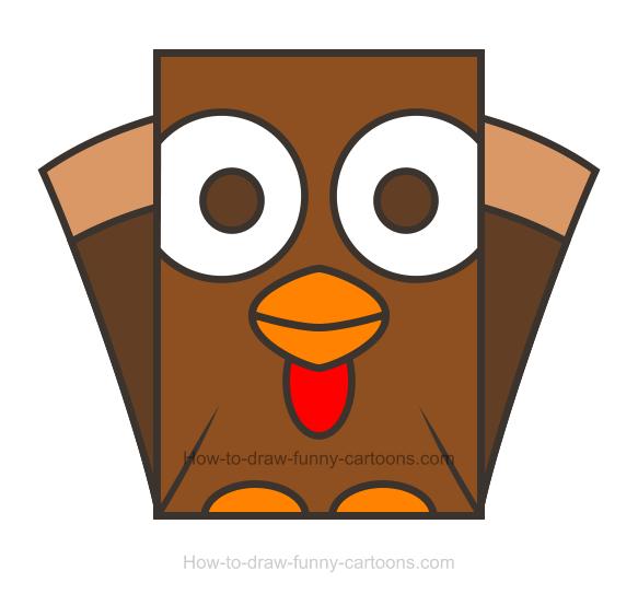 Turkey clipart shape #6