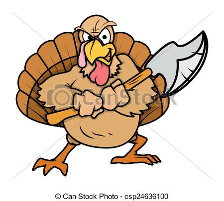Turkey clipart angry #1