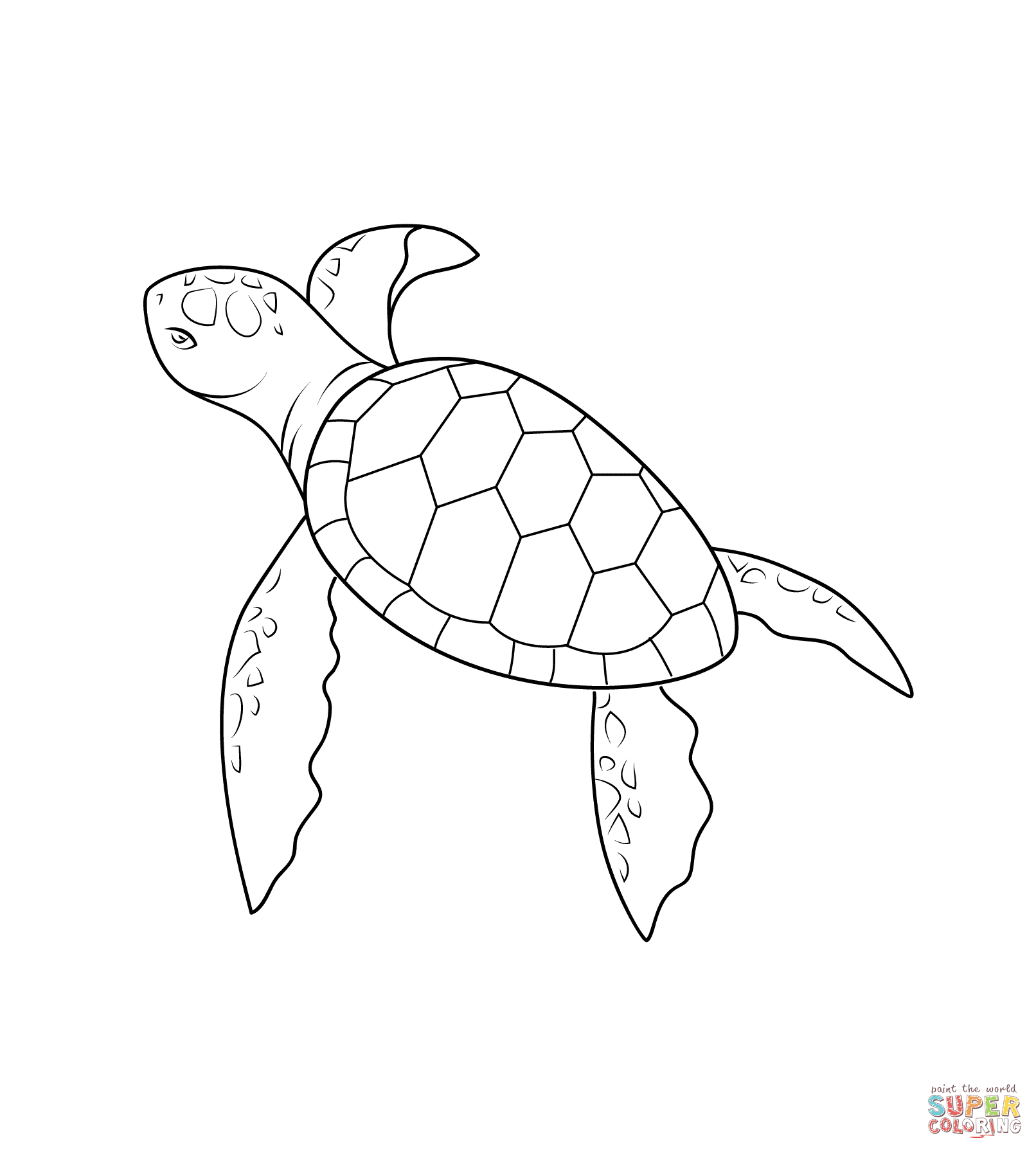 Drawn sea turtle snapping turtle Coloring Baby Free Coloring Turtle