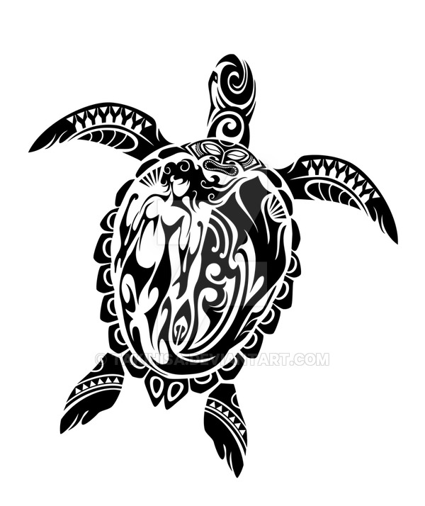 Drawn sea turtle tiki Tried turtle to in Toned