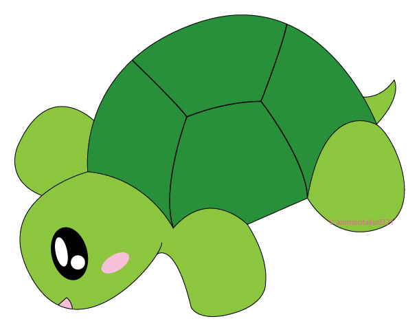 Drawn sea turtle chibi By on Chibi by Turtle