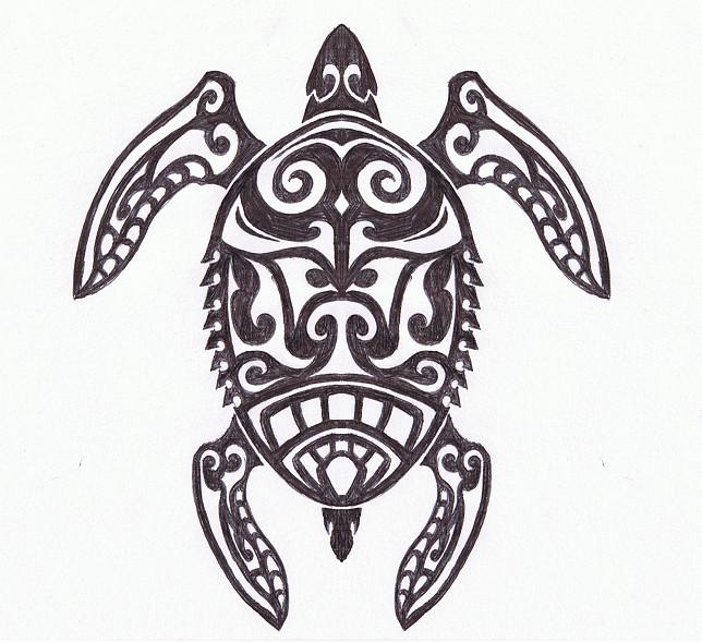Drawn sea turtle tiki Clipart Turtle Images Tribal Free