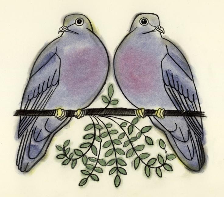 Turtle Dove clipart royal blue wedding #2