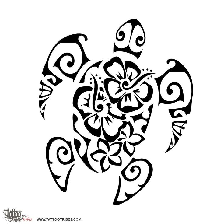 Drawn sea turtle tiki Symbol Femininity for by flowers